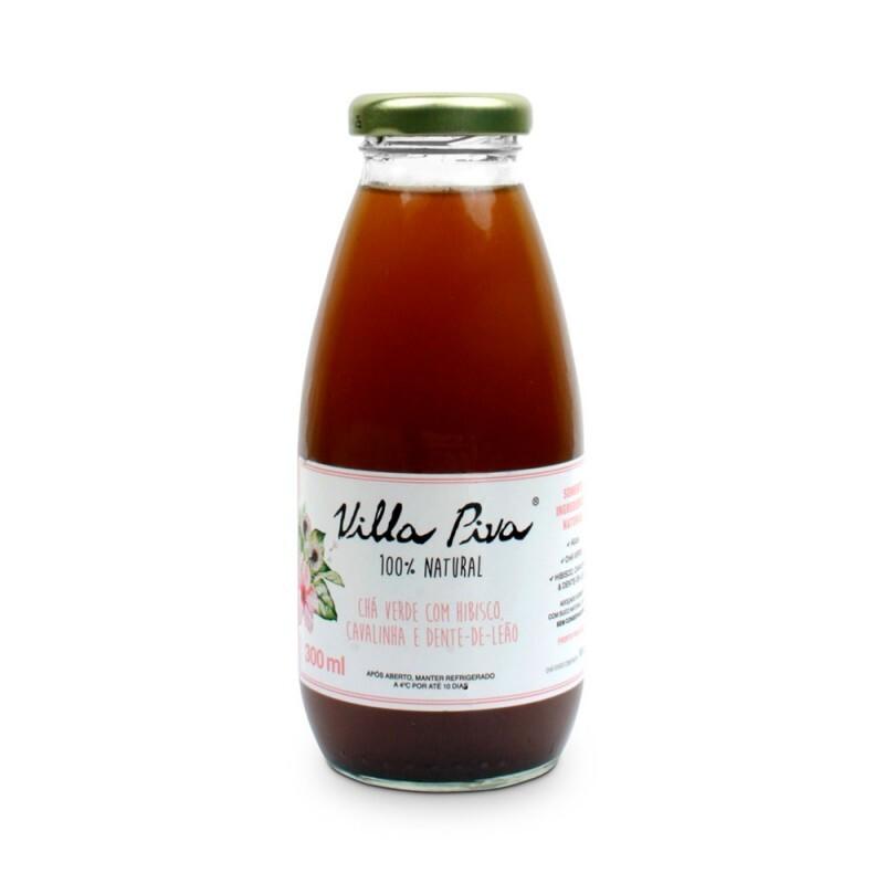 Chá Verde com Hibisco, Cavalinha & Dente-de-Leão • 300 ml