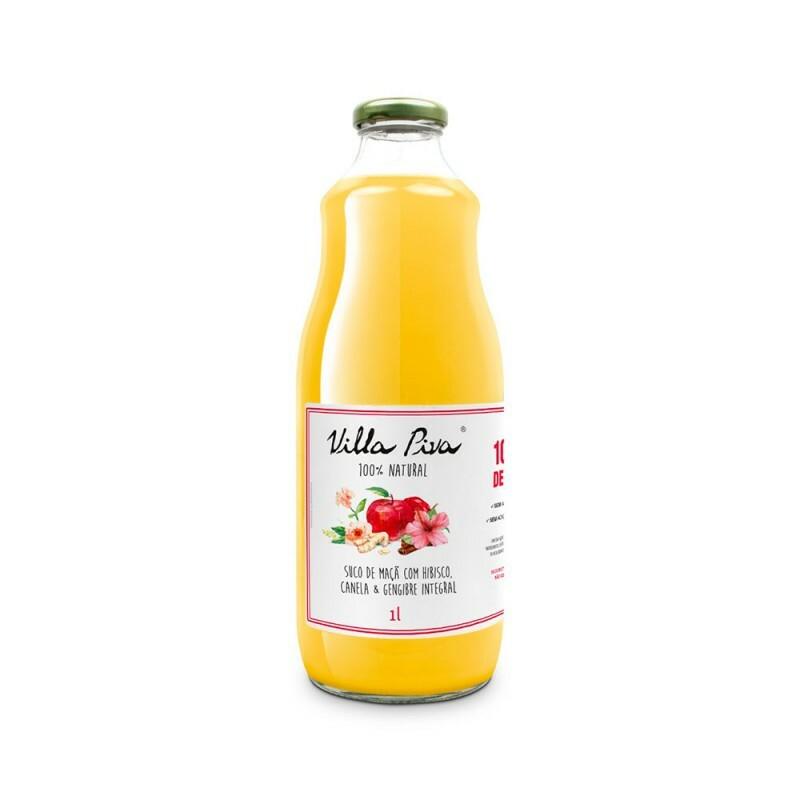 Suco de Maçã com Hibisco, Canela & Gengibre • 1 litro